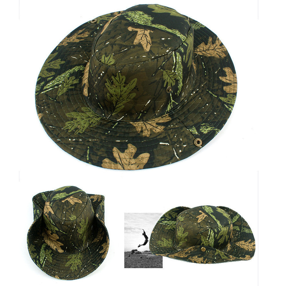 Bucket Hat Hunting Fishing Outdoor Cap Wide Brim Military Unisex Sun Camo