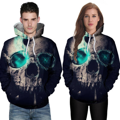 Loves' Casual Autumn Winter 3D Printing Long Sleeve Sweatshirt Hoodies