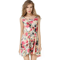 Summer Bottom Sleeveless Floral Vest Dress