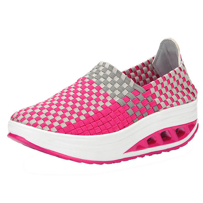 Women's Shake Shoes Ventilated Fitness Casual Sneakers