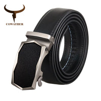 COWATHER Men Belt Cow Genuine Leather Belts for Men Alloy Buckle Cowhide Male Strap Newest Arrival Fashion Male Waistband CZ134