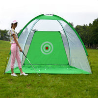 Golf Training Net Foldable Hitting Tent Cage Green 2 x 1.4m