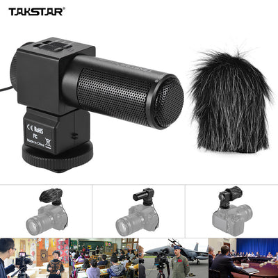 Takstar SGC-698 Pro Photography On-camera Microphone Recording Mic for DSLR Camera