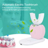 V-WHITE Automatic Electric Toothbrush and Teeth Whitener with U Type Brush and Wireless Charging
