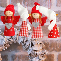 Christmas Tree and Gift Angel Pendant Decoration