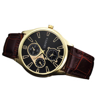 Relogio Masculino #53  Casual Quartz PU Leather Business Style Watch