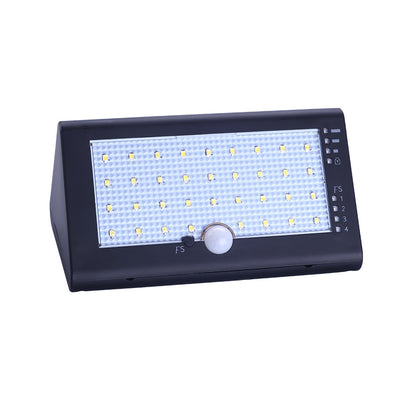 Solar Powered 35 LEDs 6W 600LM IP54 Lamp Light PIR Human Motion Sensor with USB Cable