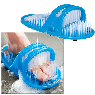 Easy Shower Feet Cleaner Scrubber Washer Pumice Stone Massager Slipper