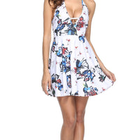 Spring Casual A-Line Sleeveless Mini Dress