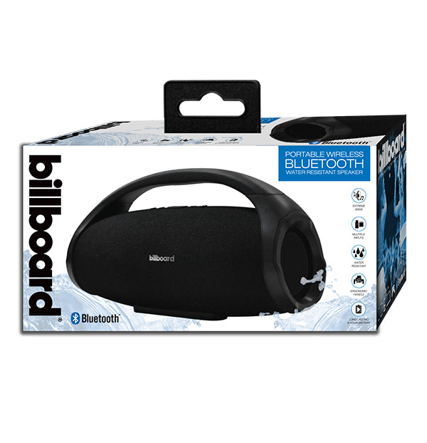 Billboard Eclipse Bluetooth Wireless Boom Box Speaker - Black