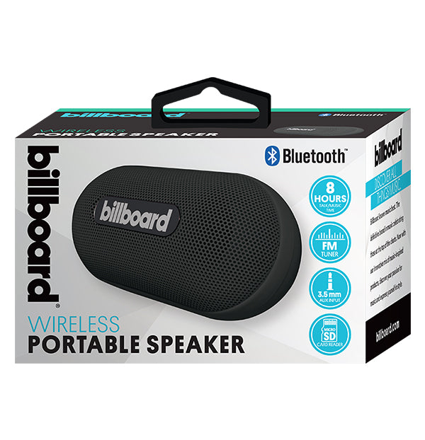 Billboard Bluetooth Wireless Mini Pill Portable Speaker - Black