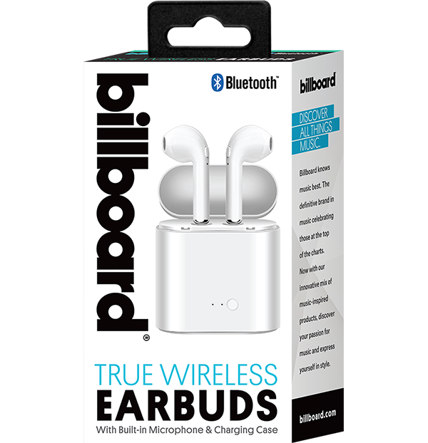 Billboard True Wireless Stereo (TWS) Binaural Bluetooth 5.0 Earbuds with Charging Case