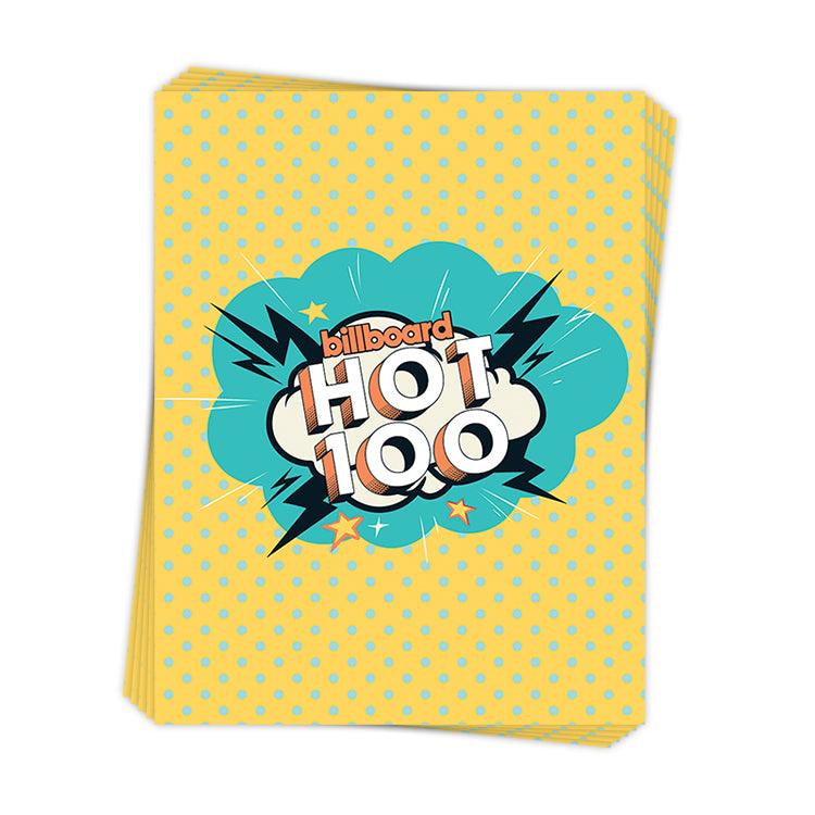 Retro Hot 100 Burst - Sticker