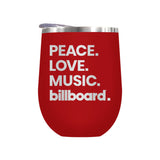 Peace. Love. Music. Billboard.