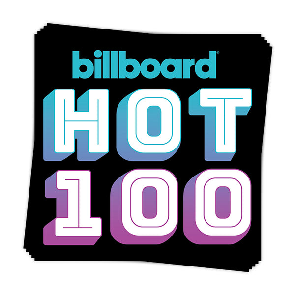 Hot 100 Gradient Call-Out - Sticker