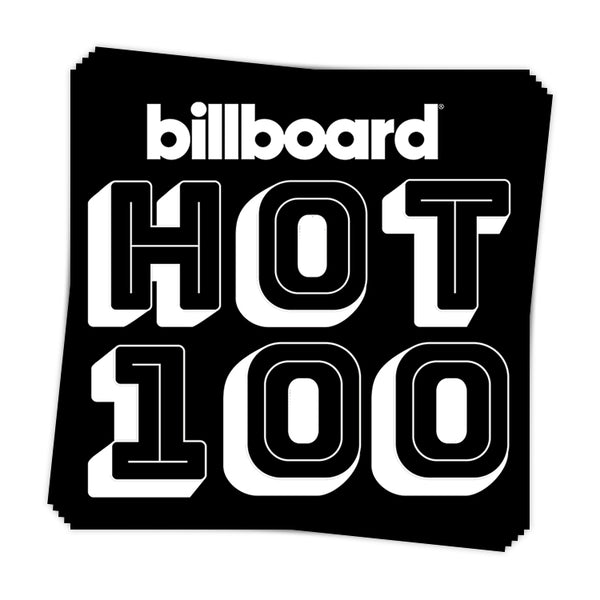 Hot 100 White Call-Out - Sticker