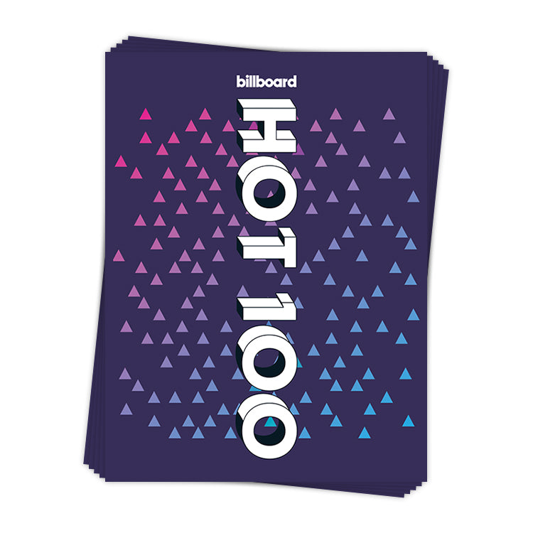 Hot 100 Gradient Triangles - Sticker