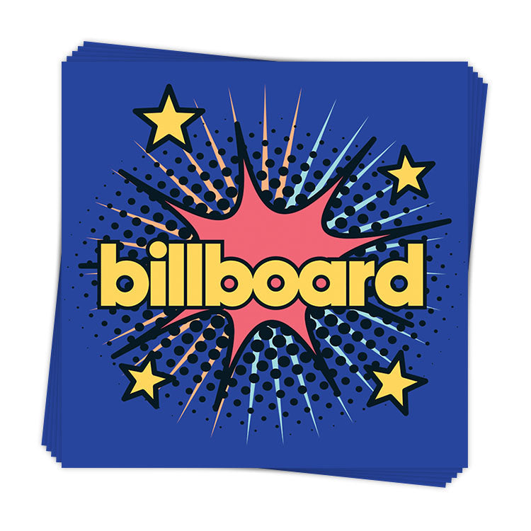 Retro Billboard Comic Burst - Sticker