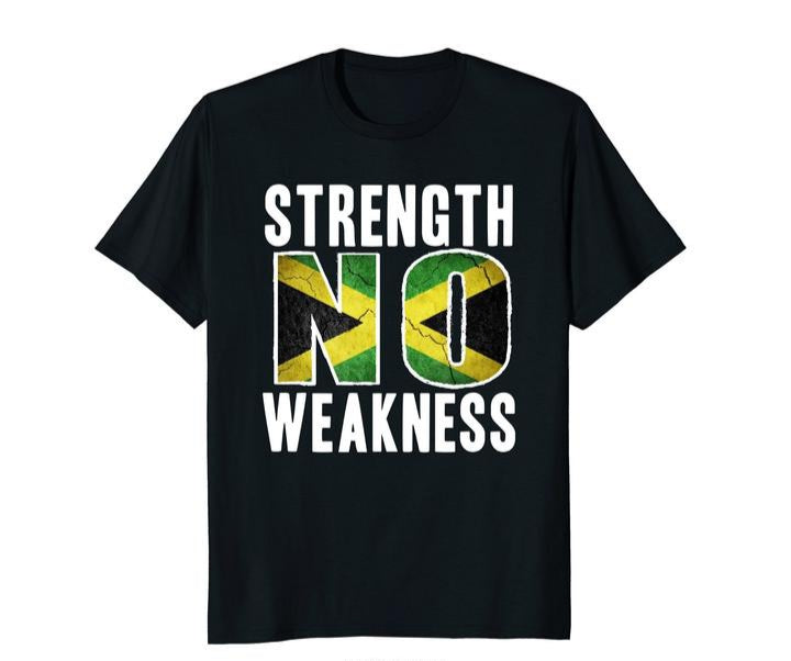 Strength No Weakness Jamaica Flag T-Shirt
