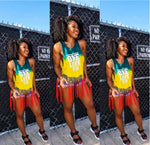 One Love Tie Die Tassel Tank Top