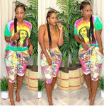 Bob Marley Tie Dye T-Shirt & Short Pants Set