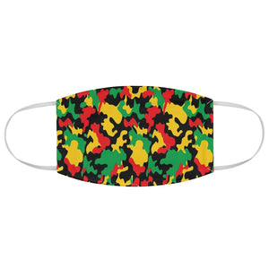 Rasta Camo Fabric Face Mask
