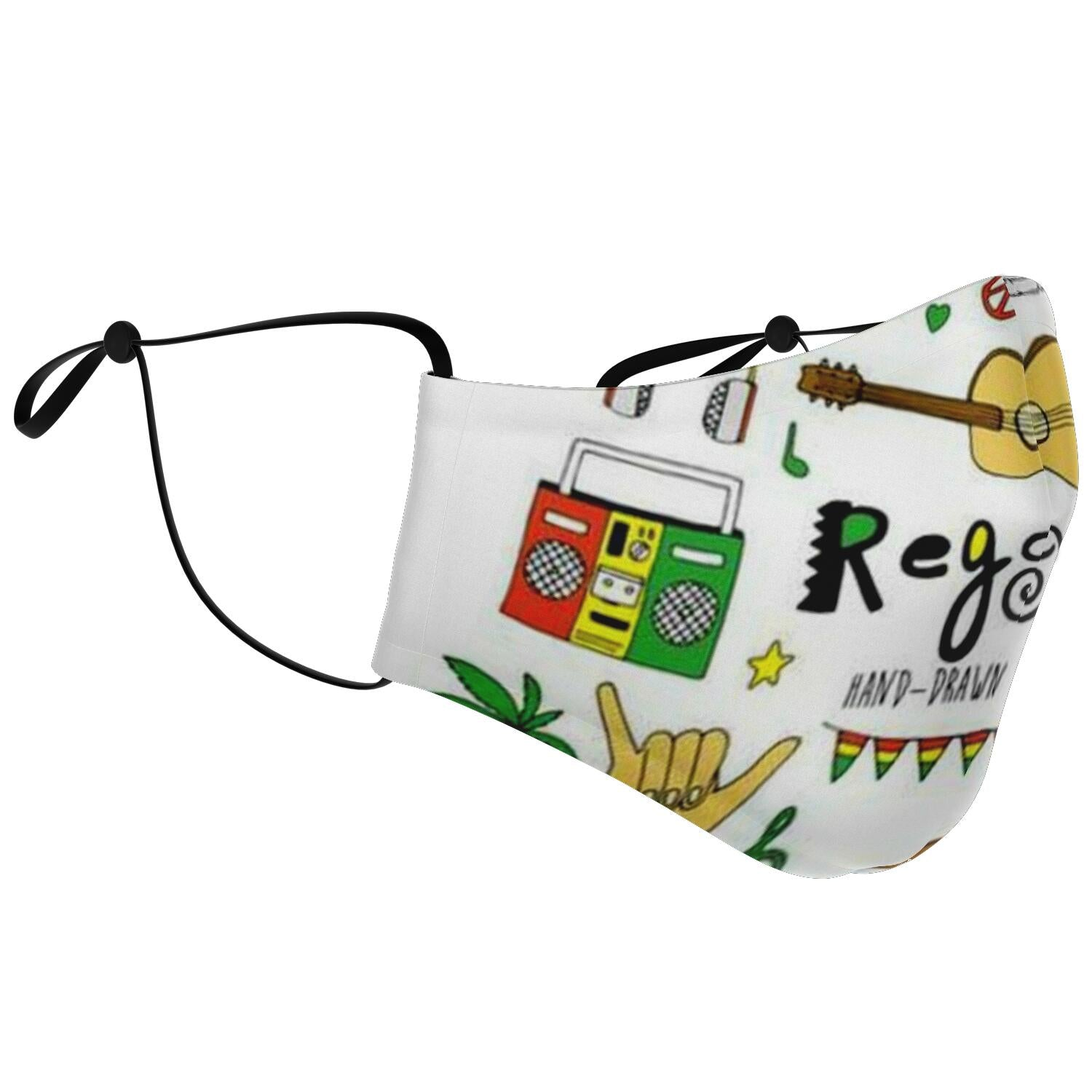 Reggae Music Face Mask