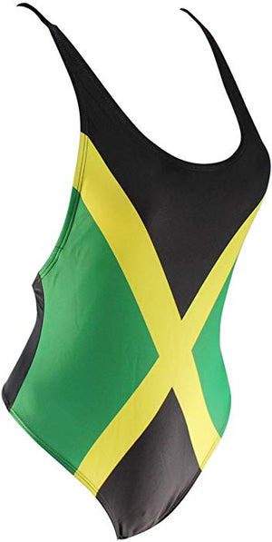434f87b4c5 Jamaica flag One Piece Swimsuit – Original Yawdie Apparel
