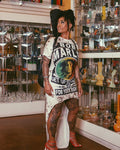 Bob Marley High Low T-Shirt Dress
