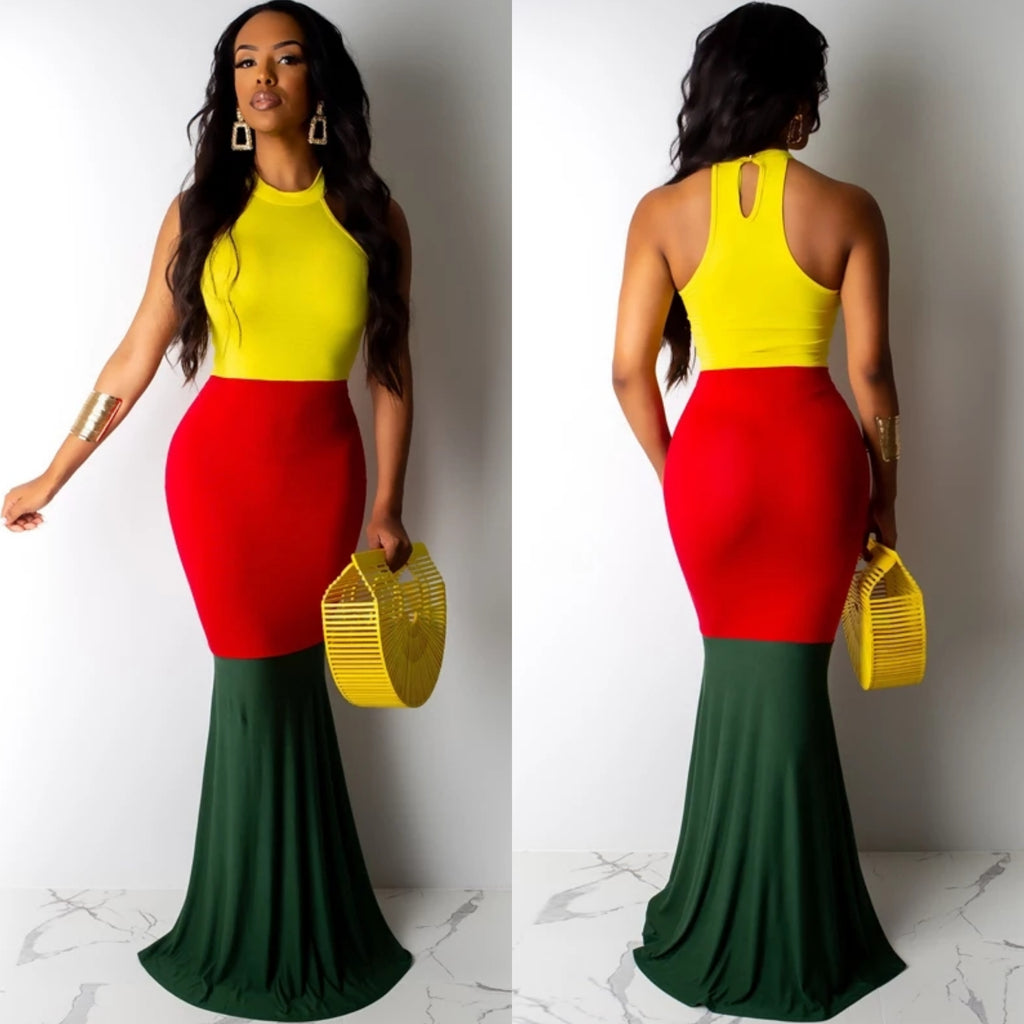 Women's Bodycon Maxi Mermaid Dress