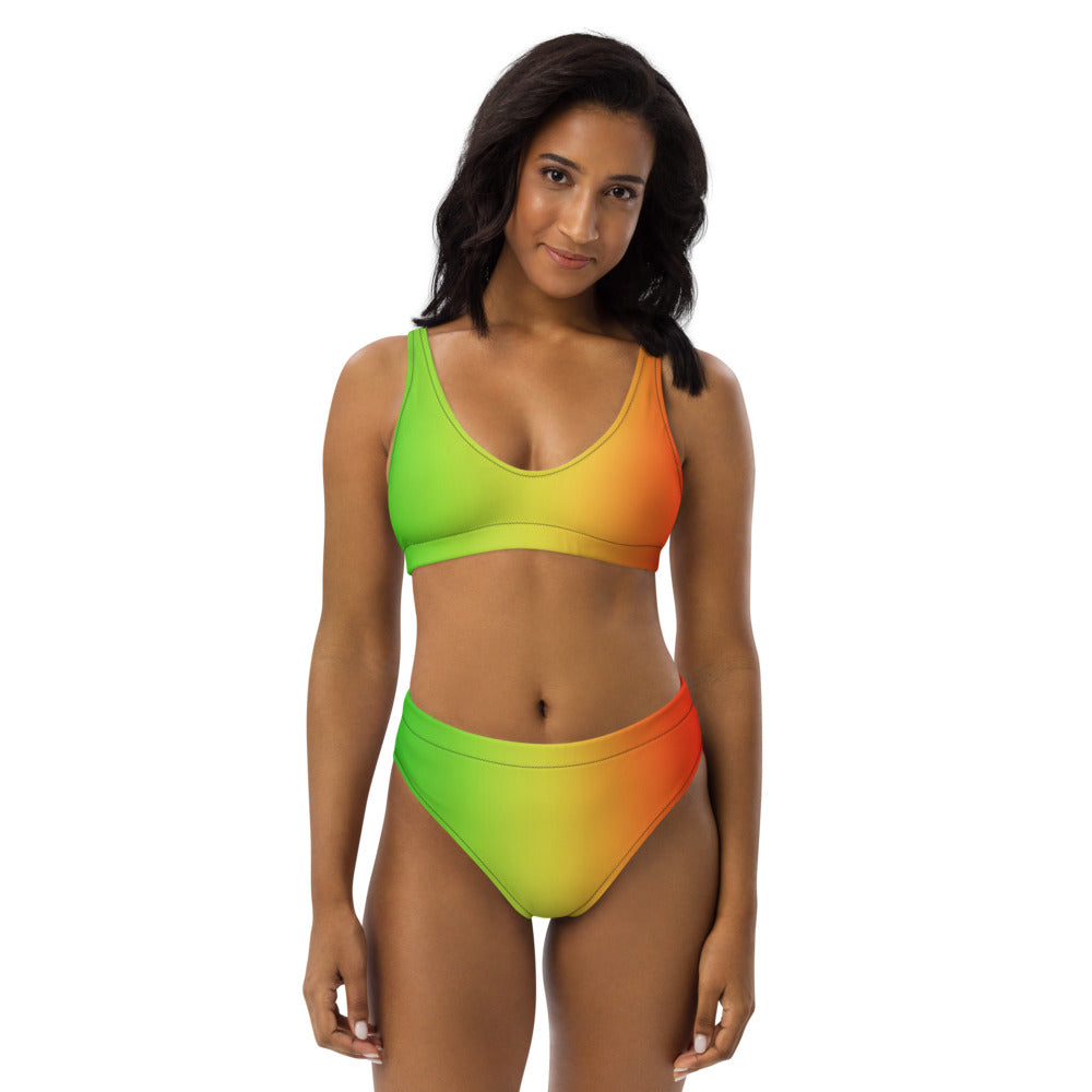 Rasta Recycled high-waisted bikini