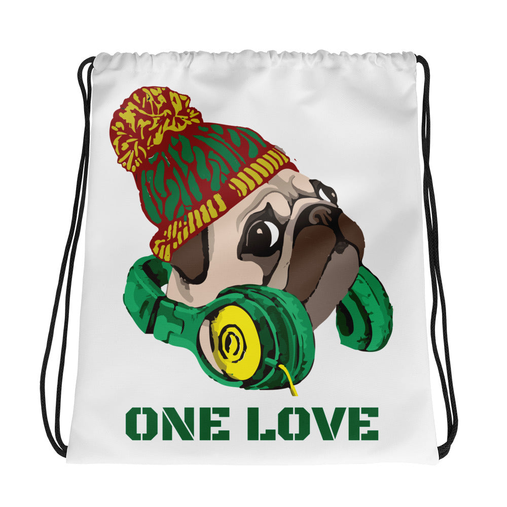 One Love Drawstring bag
