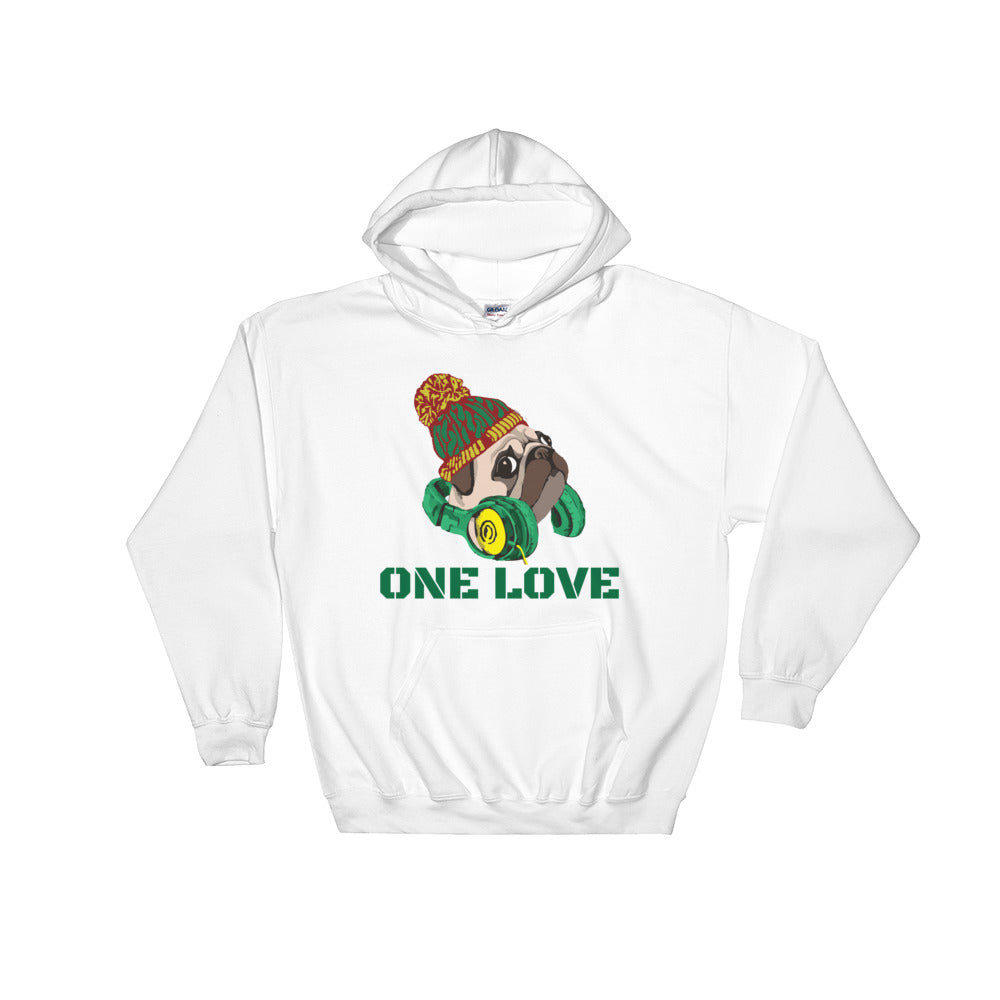 One Love (White) Hooded Sweatshirt