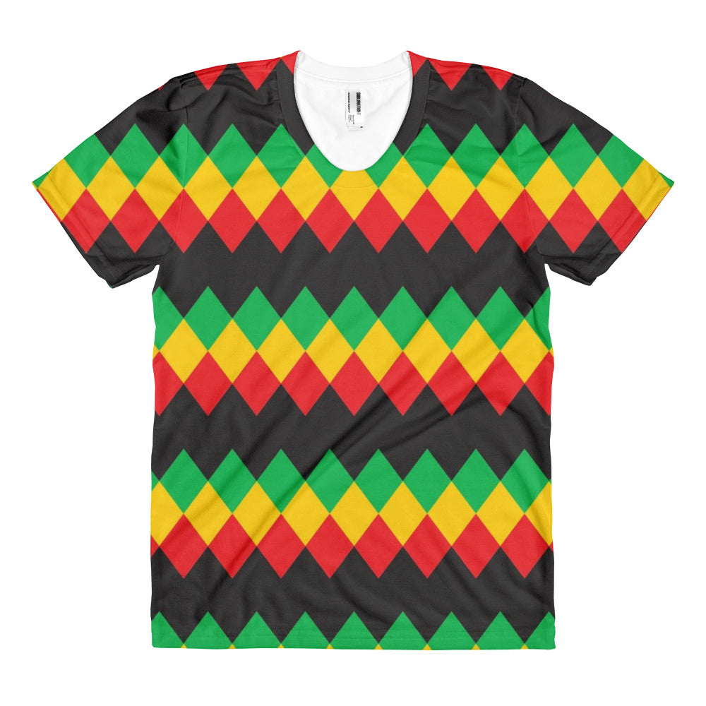 Women's sublimated Rasta t-shirt