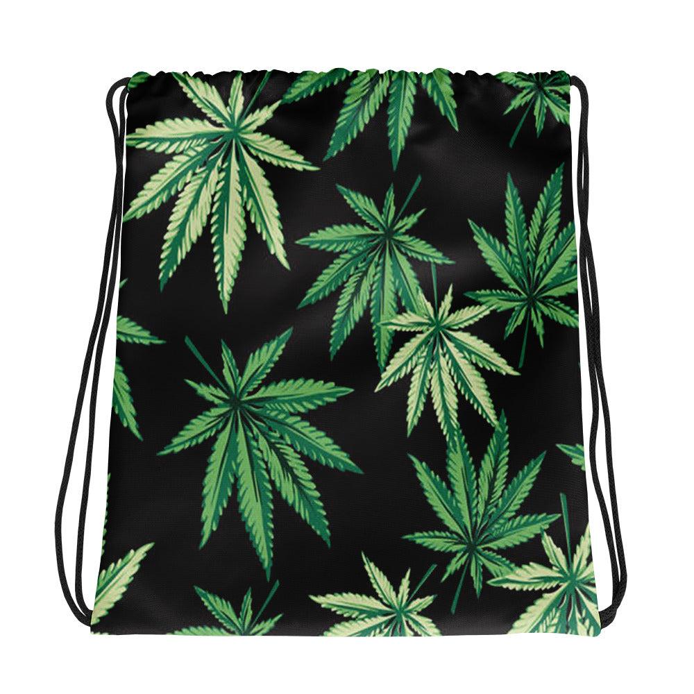 Weed Leaf Drawstring bag