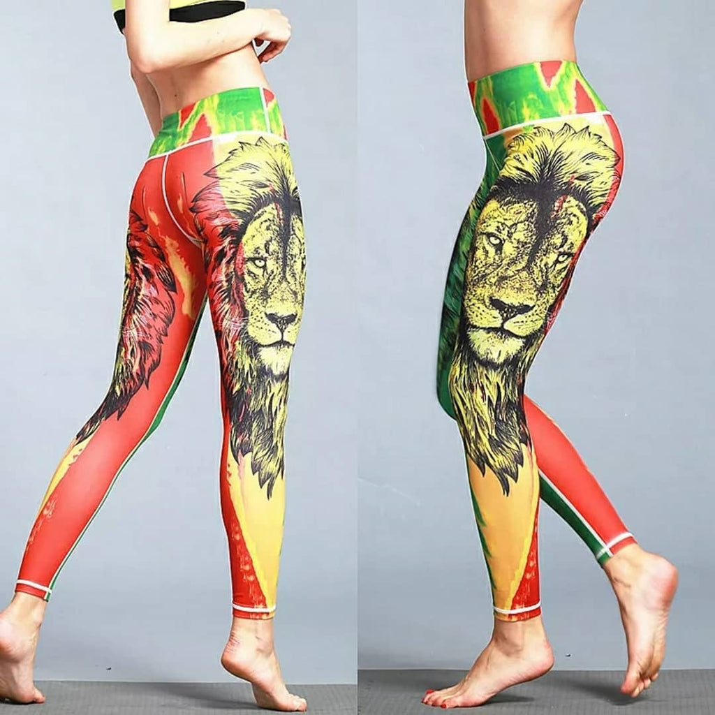 Rasta Lion High Waisted Leggings