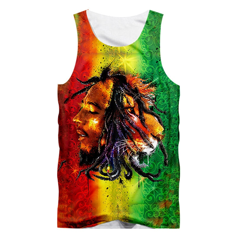 Bob Marley Lion Head 3D Unisex Tank Top