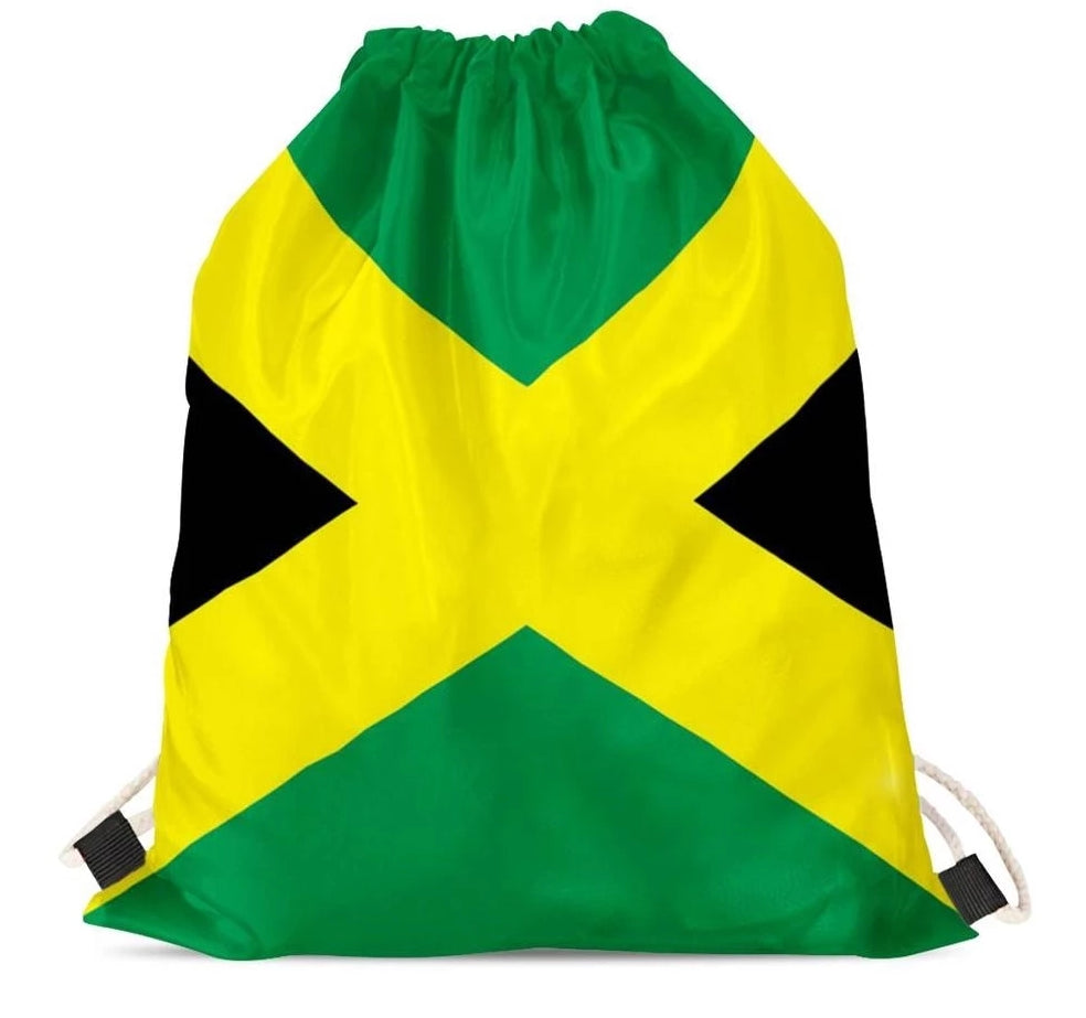 Jamaica Flag Drawstring Bag