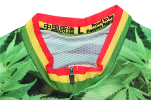 Rastaman Weed Leaf Cycling Jersey Set