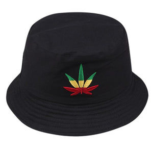 Rasta Weed Leaf Bucket Hat