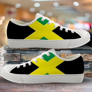 Jamaica Flag Low Top Canvas Shoes