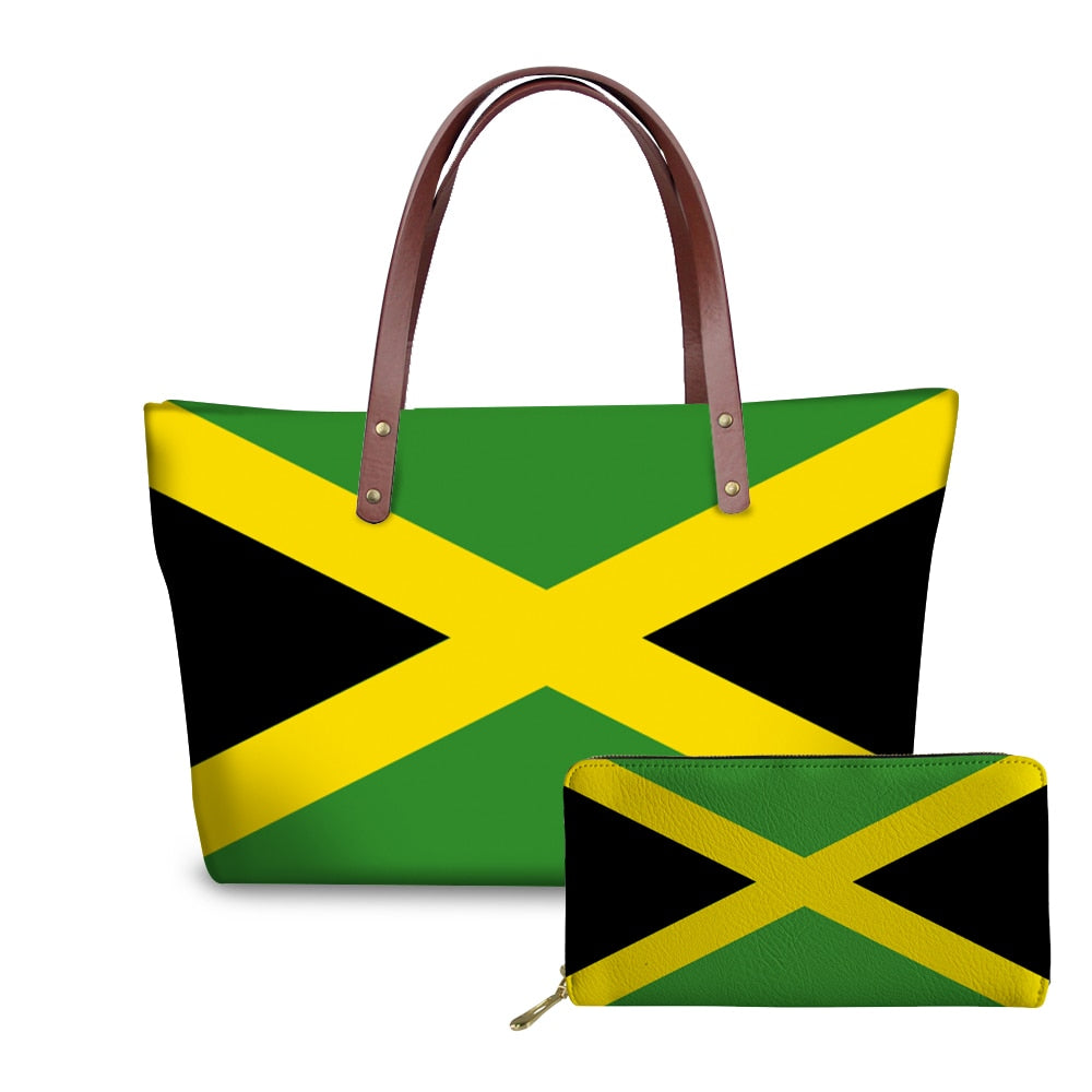 Jamaica Flag Handbags, Tote Bags, Wallets