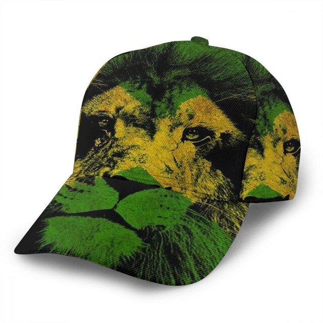 Jamaica Lion Head 3D Print Cap