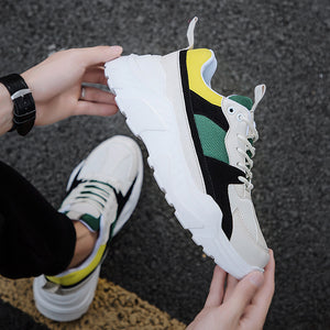 Jamaica Color Patchwork Lace-up Sneakers