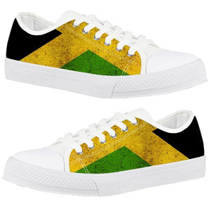 Rasta Jamaica Vulcanized 3D Print Canvas Shoes
