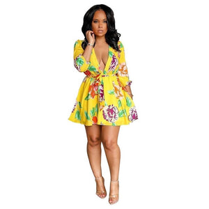 Women Floral Mini Dress