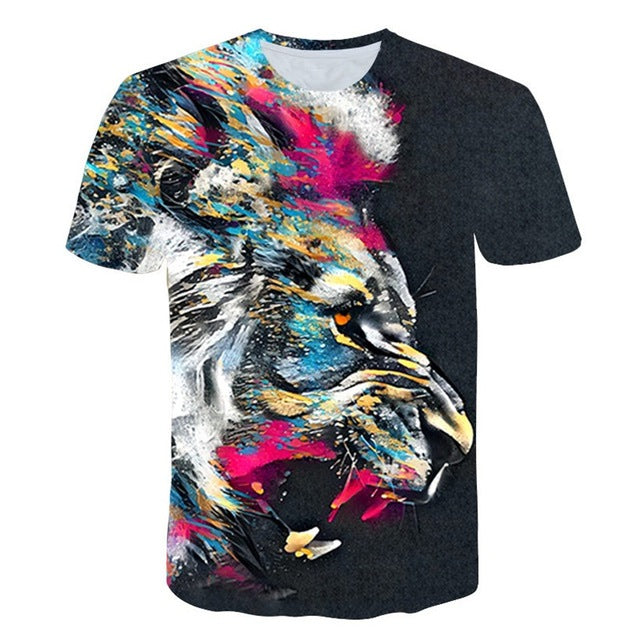 Rasta Lion King 3D Print T-Shirt