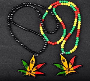 Rasta Hemp Pendant Necklace