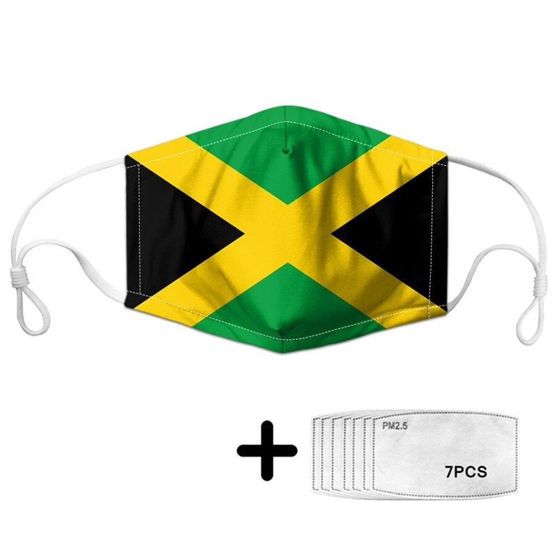 Jamaica Flag Dust Mask with Filter