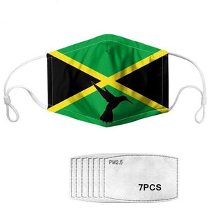 Jamaica Flag Humming Bird Mask with Filters